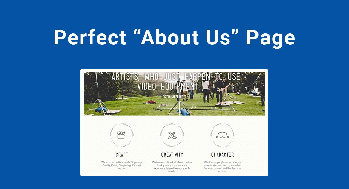 "Perfect ""About Us"" Page"