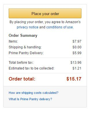 Amazon Place your order clickwrap: Privacy Notice and Conditions of Use