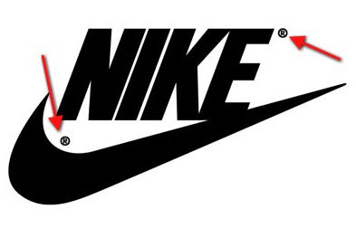 Nike Logo and Symbol: Show the registered mark