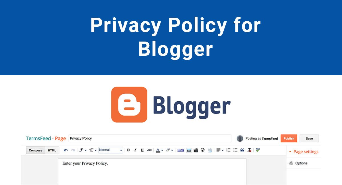 Privacy Policy for Blogger (BlogSpot)