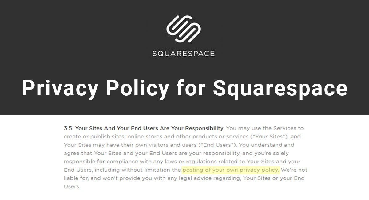 Image for: Privacy Policy for Squarespace
