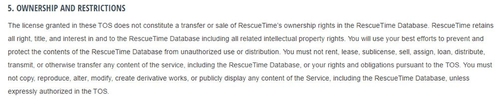 RescueTime Terms of Service: Ownership and Intellectual Property