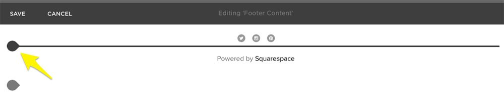 Squarespace: Add Insert Point