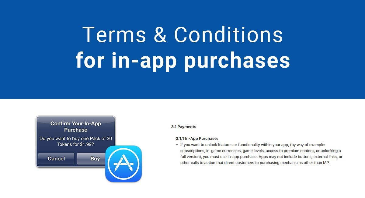 Terms & Conditions for in-app purchases