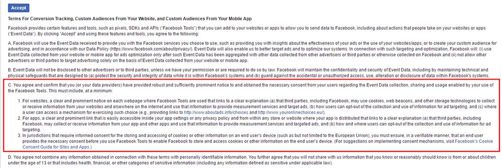 Facebook Custom Audiences and Tracking Retargeting Terms Highlight