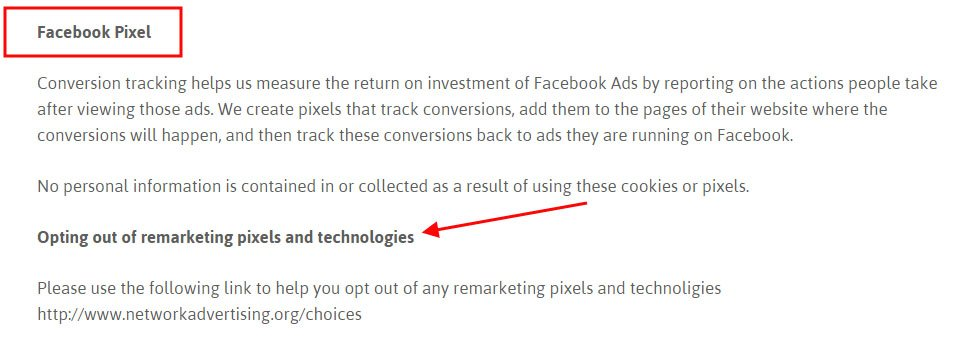 Glitch Festival Privacy Policy: Highlight on Retargeting