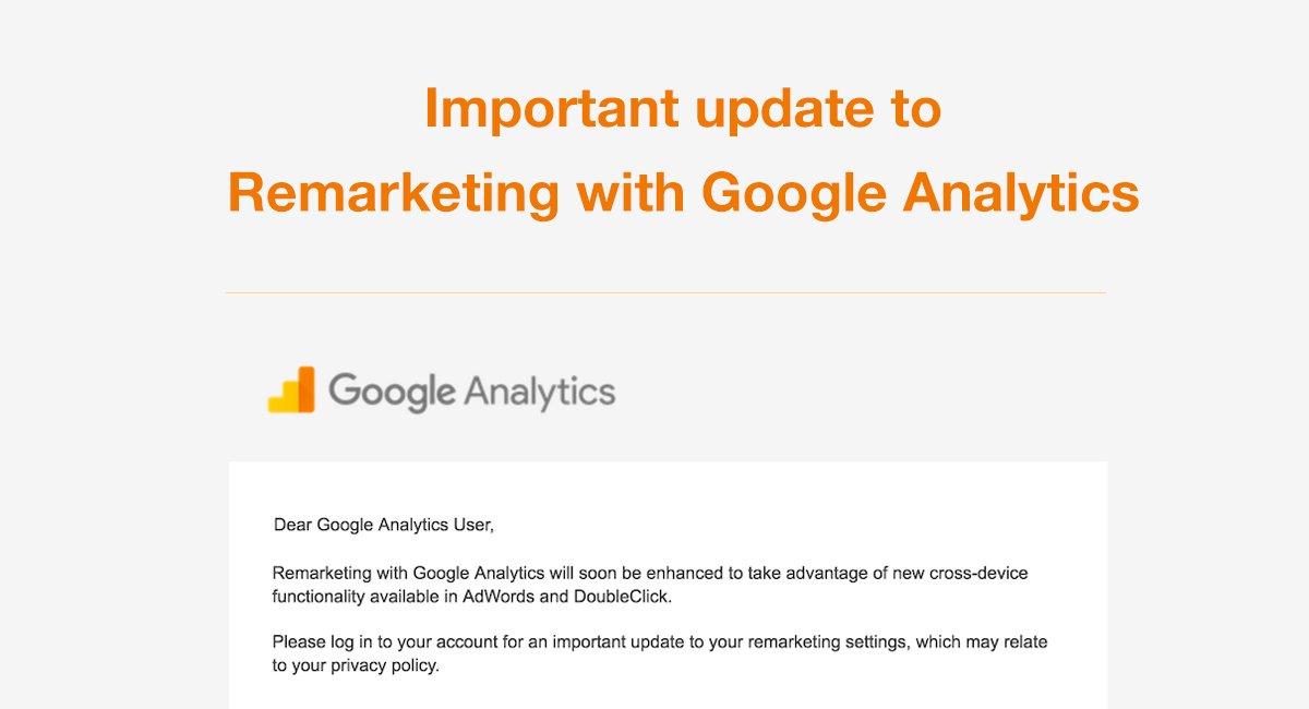 2017 Update to Remarketing with Google Analytics