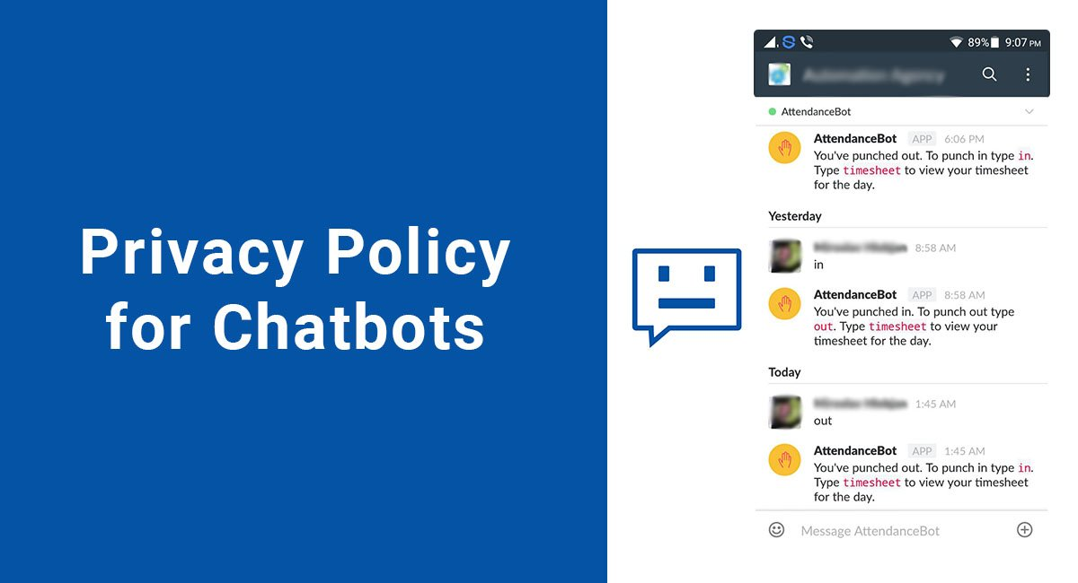 Image for: Privacy Policy for Chatbots