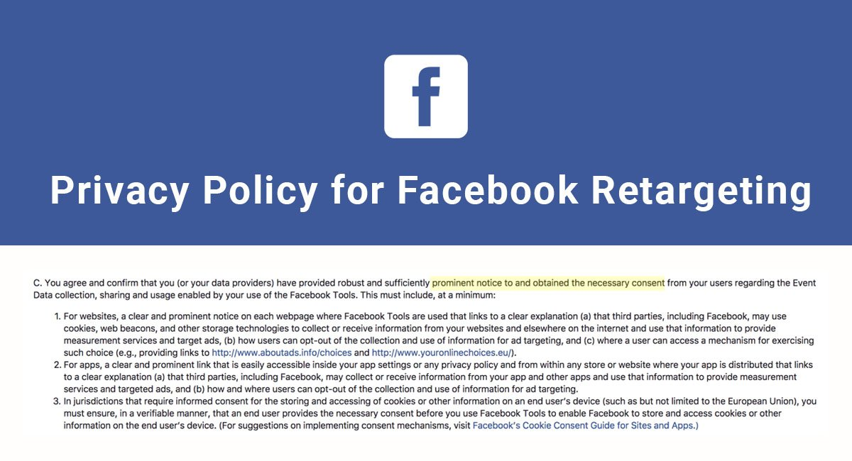 Image for: Privacy Policy for Facebook Retargeting