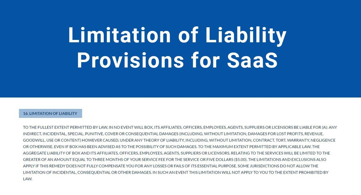 Limitation Of Liability Provisions For Saas Termsfeed