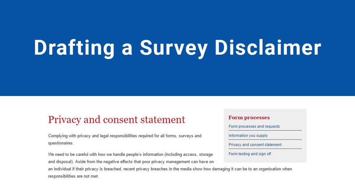 Drafting a Survey Disclaimer