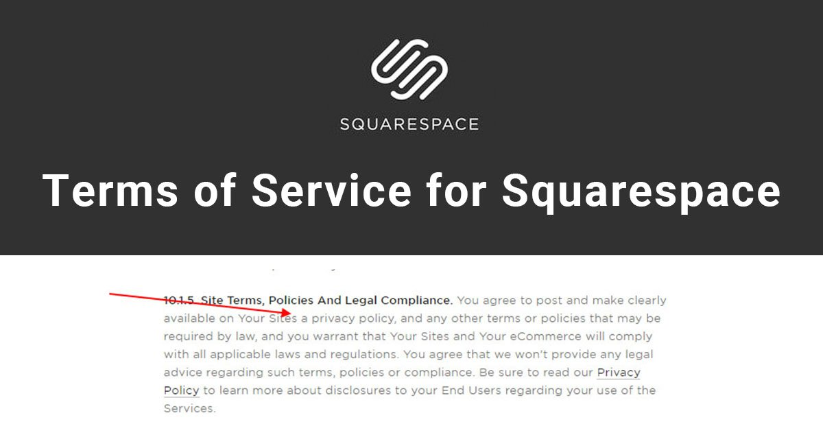Image for: Terms of Service for Squarespace