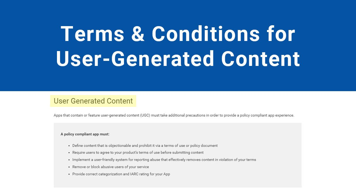 Terms & Conditions for User-Generated Content