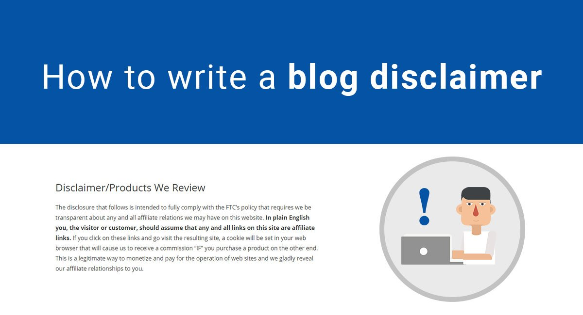 Sample Blog Disclaimer