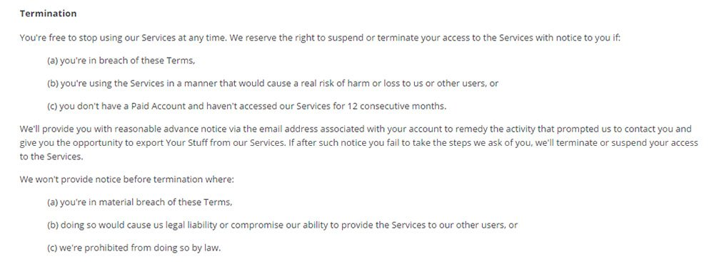 Letter To Lawyer Terminating Services from www.termsfeed.com