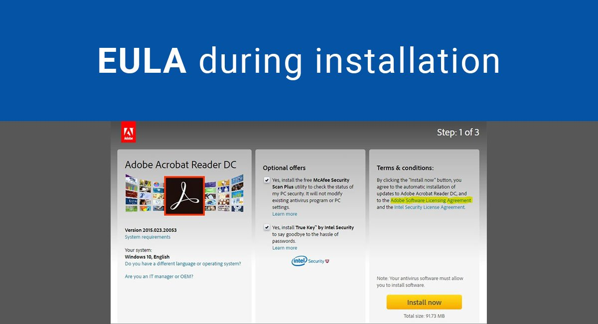 Image for: EULA During Installation