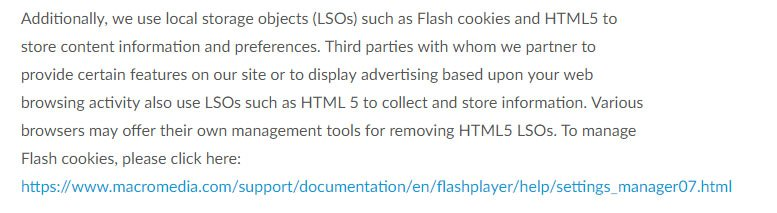 Lenovo US Privacy Policy: Cookies and Flash technology