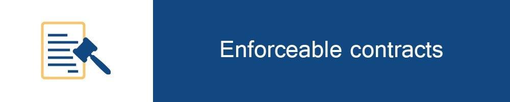 Enforceable contracts