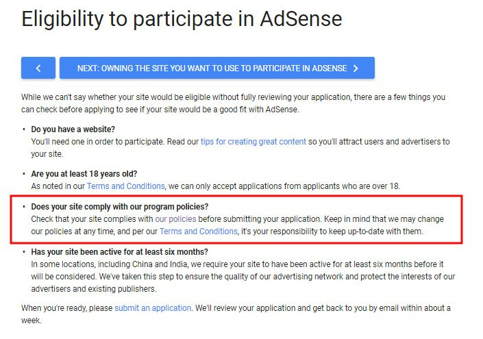 Google's Eligibility to Participate in AdSense: Does Your Site Comply with Program Policies