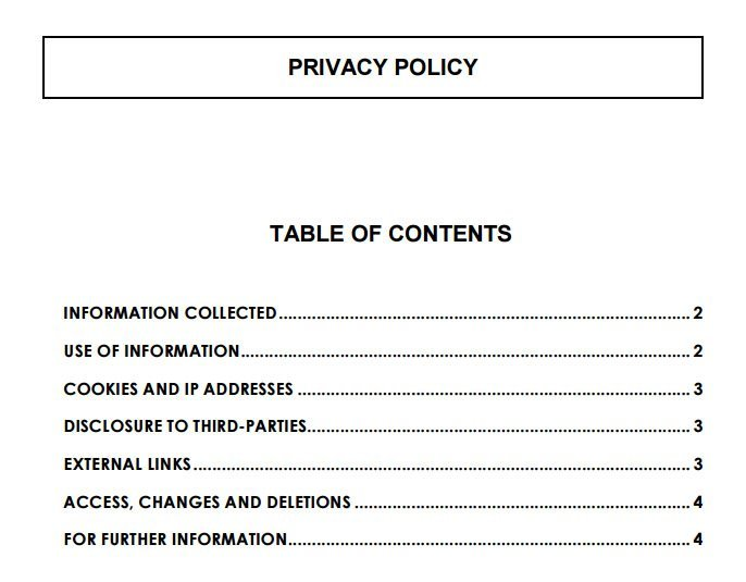 INSEAD's Privacy Policy Table of Contents