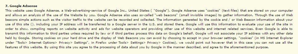 Mangroves Google AdSense Disclaimer