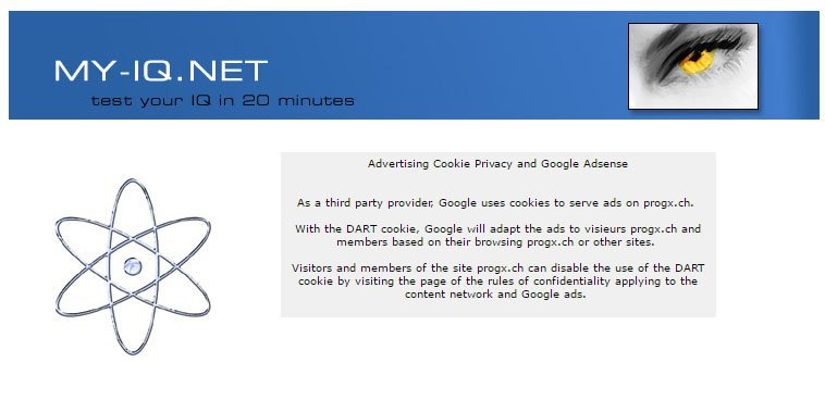 My-IQ Advertising Cookie Privacy and Google AdSense Disclaimer