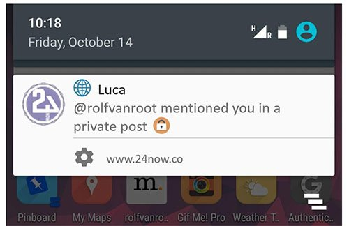Android Mobile Push Notification example from Luca app