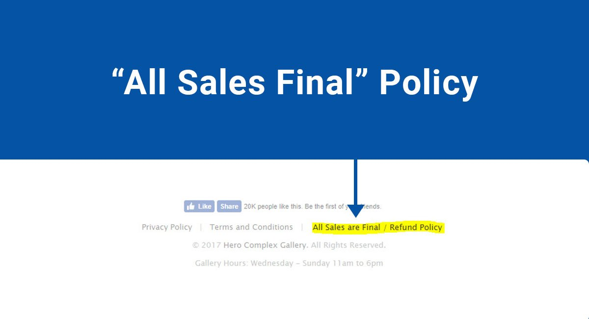 """All Sales Final"" Policy"