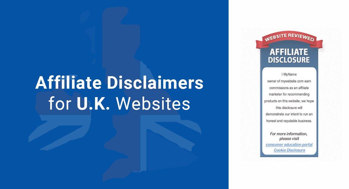 Affiliate Disclaimers for U.K. Websites
