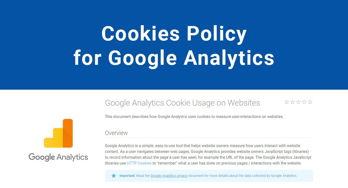 Cookies Policy for Google Analytics