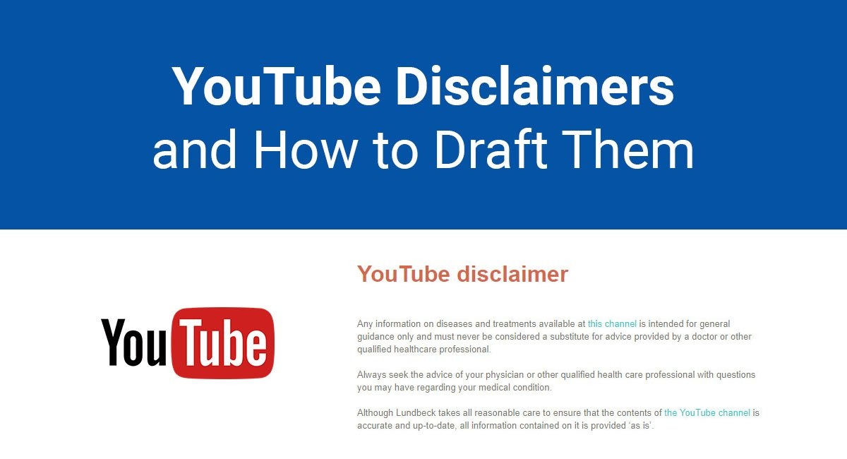 Disclaimer: YouTube Disclaimers And How To Draft Them