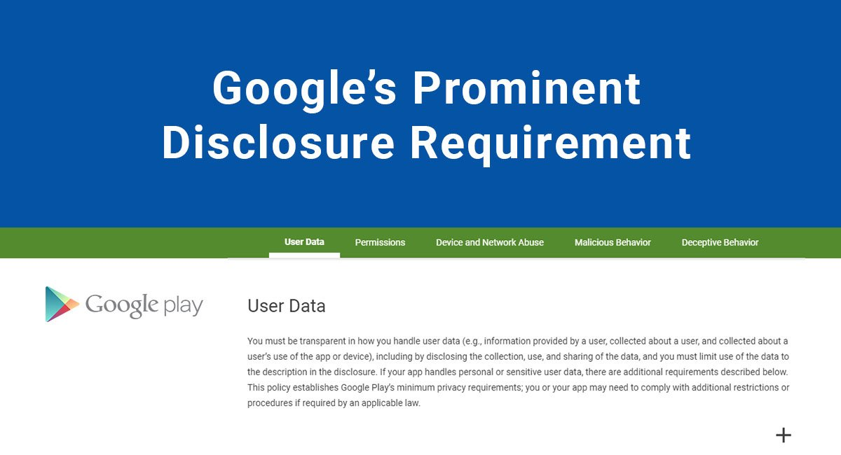 Google's Prominent Disclosure Requirement