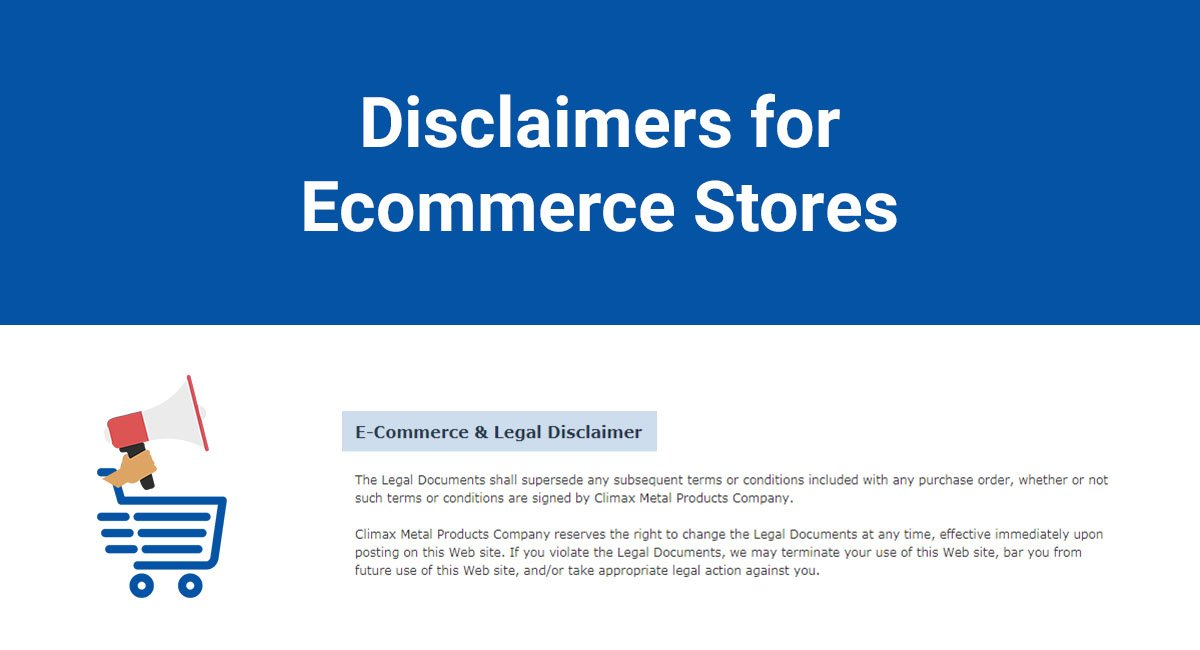 Disclaimers for Ecommerce Stores