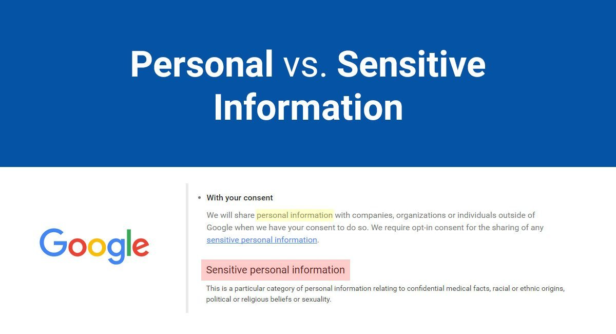 Personal Vs Sensitive Information Termsfeed