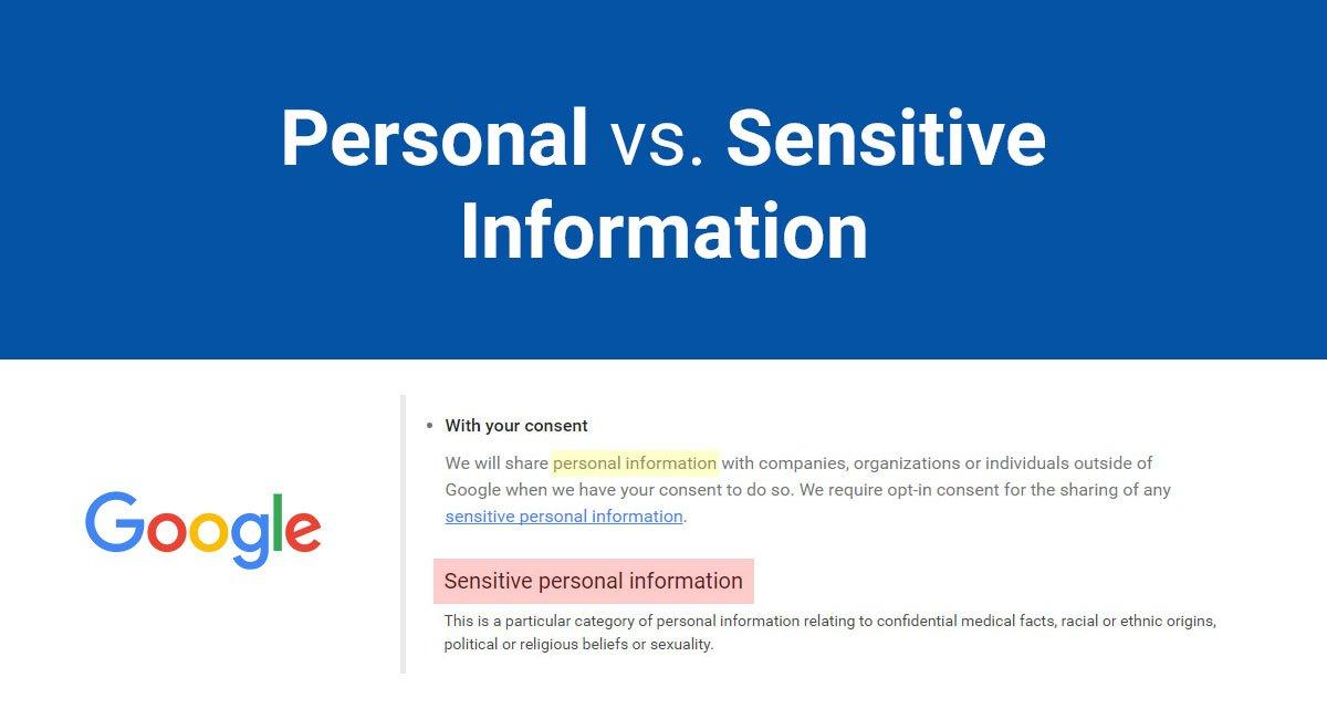Image for: Personal vs. Sensitive Information