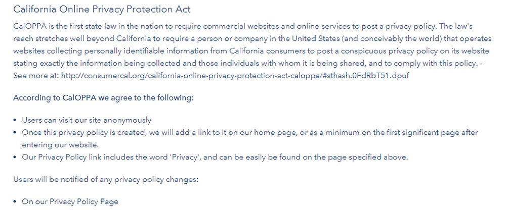 Strides Privacy Policy: CalOPPA Notice