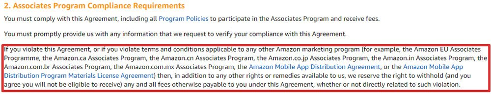 Amazon Associates Program Operating Agreement: Compliance Requirements
