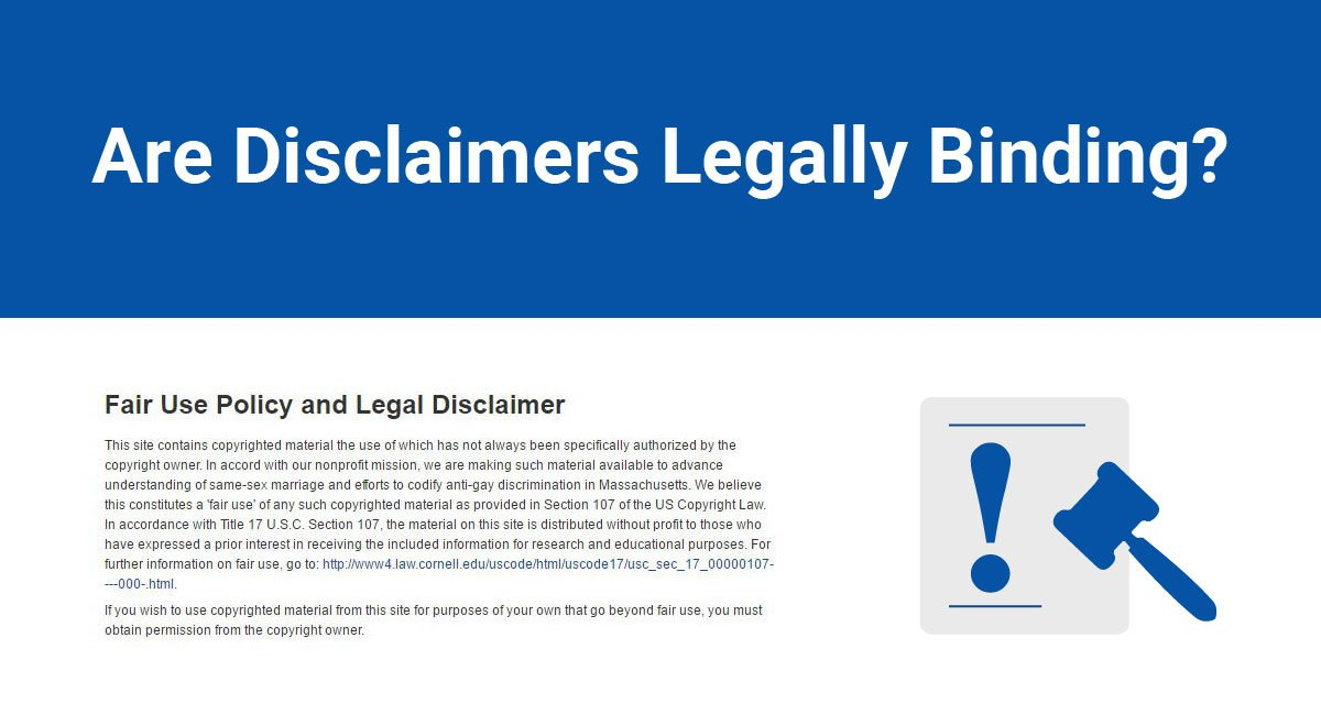Are Disclaimers Legally Binding