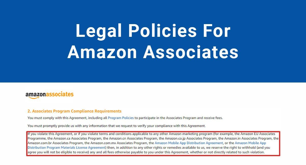Image for: Legal Policies For Amazon Associates