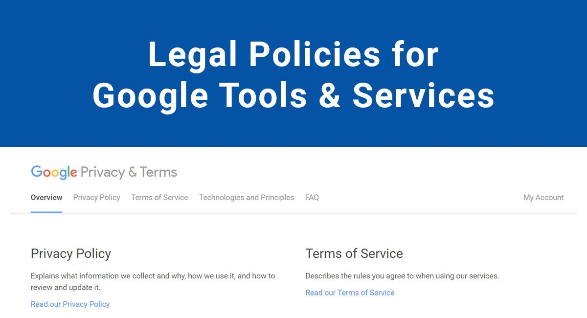 Image for: Legal Policies for Google Tools & Services
