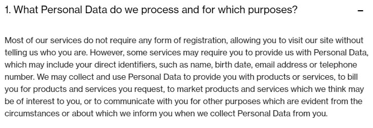 novartis privacy policy what personal data do we process and for which purpose clause