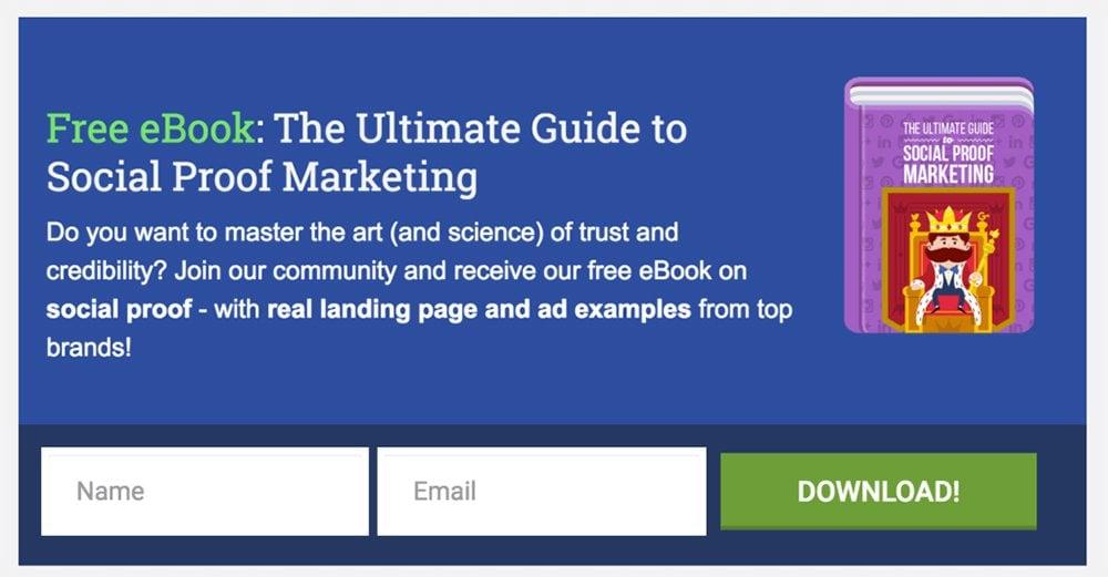 Social Proof Marketing free ebook download form