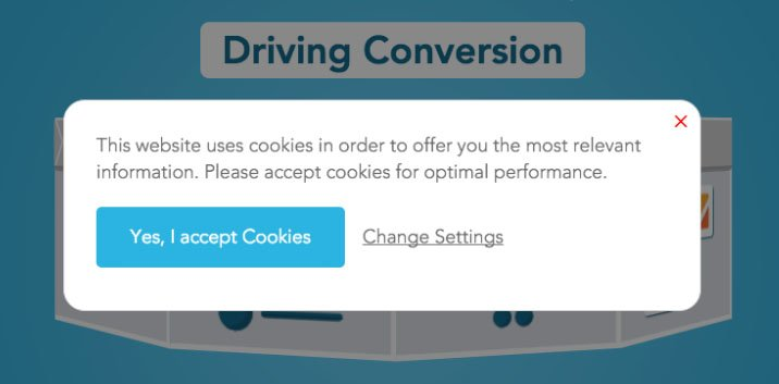Blueconic cookies notification message