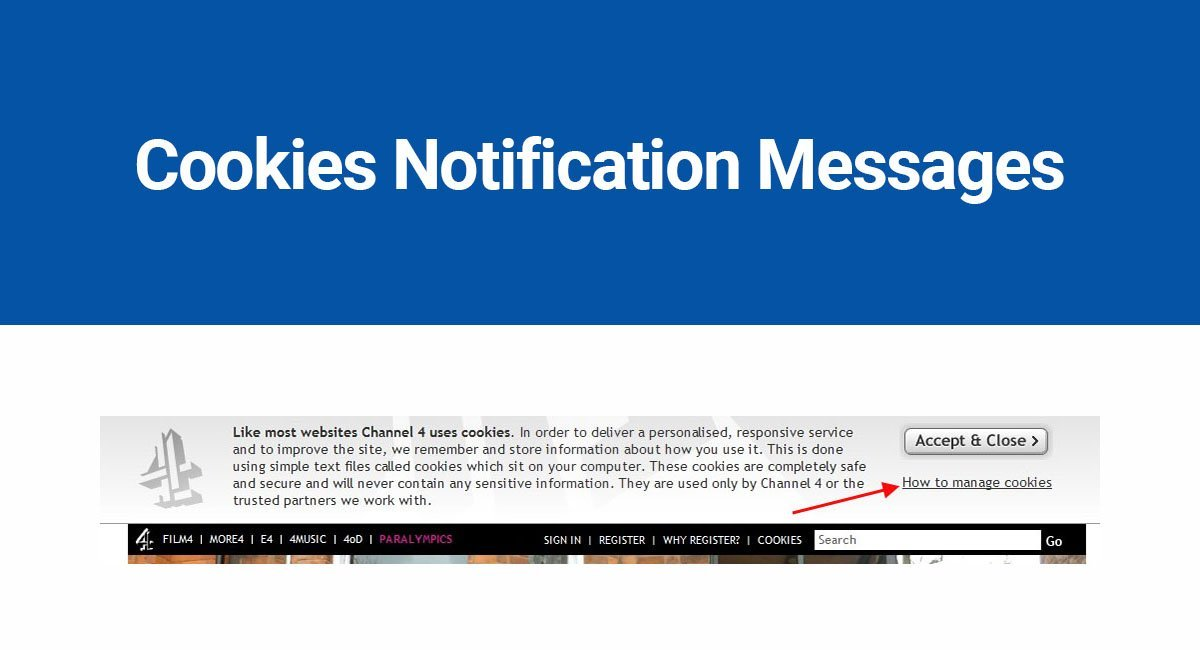 Cookies Notification Messages