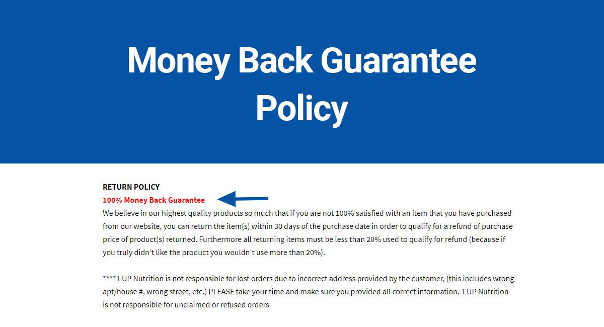 Do You Need a Money Back Guarantee?