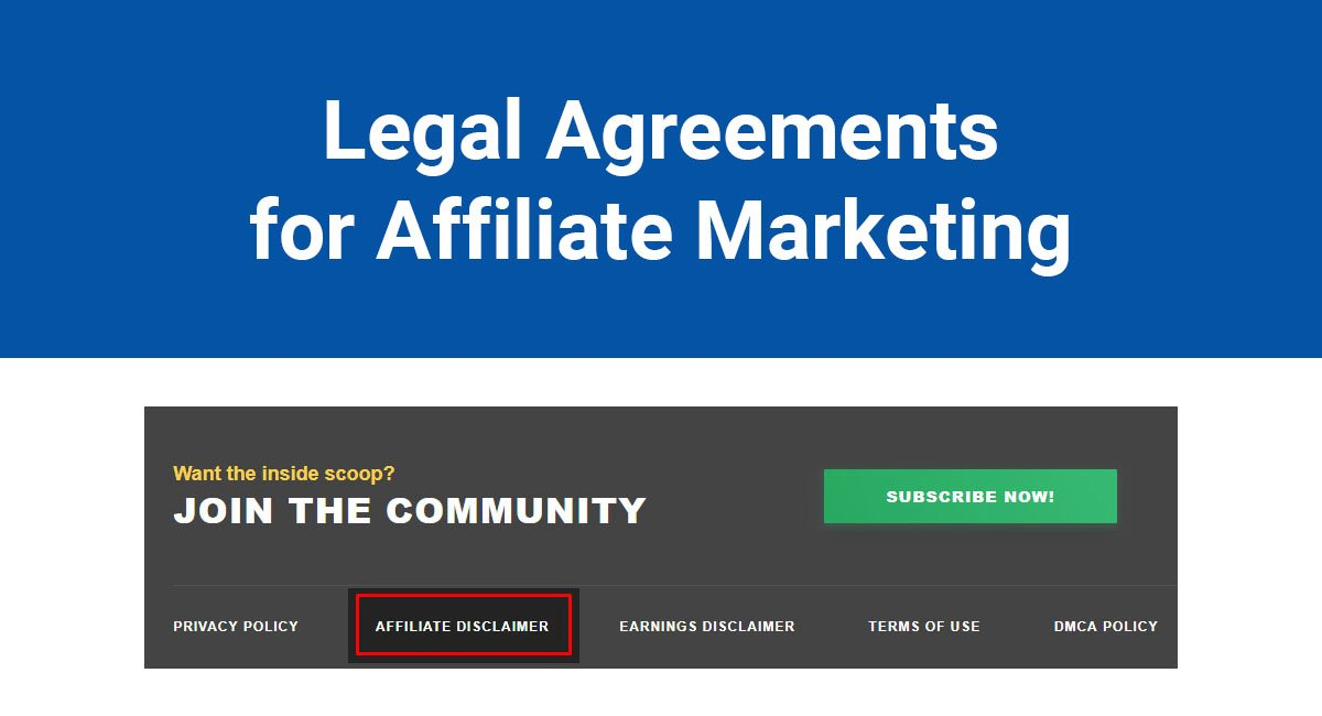 Legal Agreements for Affiliate Marketing