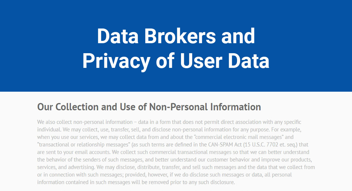 Image for: Data Brokers and Privacy of User Data