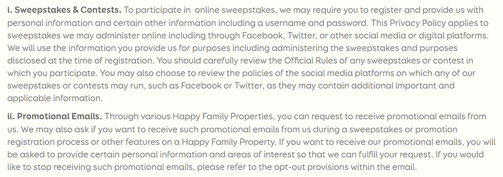 Privacy Policies for Sweepstakes - TermsFeed