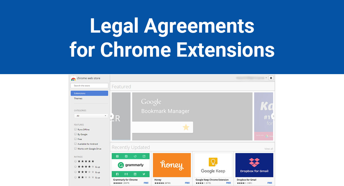 Image for: Legal Agreements for Chrome Extensions