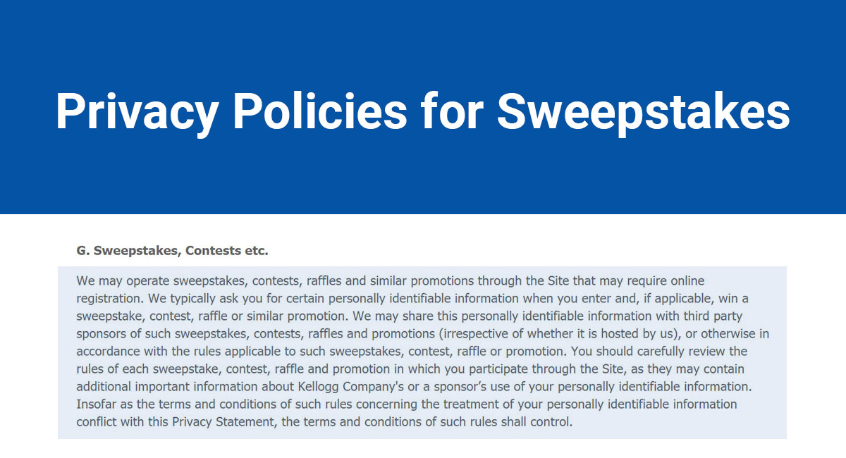 Image for: Privacy Policies for Sweepstakes